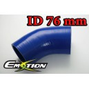 76mm 3 inch 45 Degree Silicone Hose Elbow Blue - Emotion ( EASHU03-45D76B )