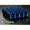 Racing Wheel Lug Nuts 12mm x 1.25 Light 20pcs Blue - Emotion ( CAPP246S )