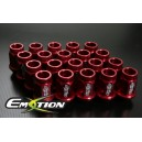 Subaru  Aluminum Wheel Lug Nuts M12 x 1.25 20pcs  Red - Emotion ( CAPP247S )
