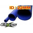 22mm 0.9 inch ID Silicone Straight Hose 1 Meter Blue - Emotion ( EASHU01-1M22B )