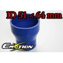 63mm 51mm Silicone Straight Reducer Hose Silicon Blue - Emotion ( EASHU02-5164B )